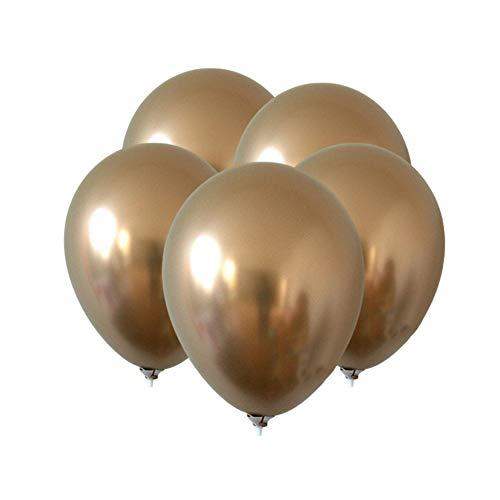 gzzebo Globos de látex de 12 Pulgadas para la Boda decoración de Fiesta de cumpleaños 5 Piezas Dorado