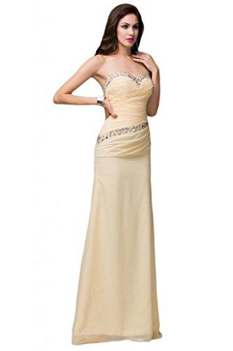 Sunvary Scoop Fodero da sera Gowns Pageant trasparente, con strass rosa Lavanda
