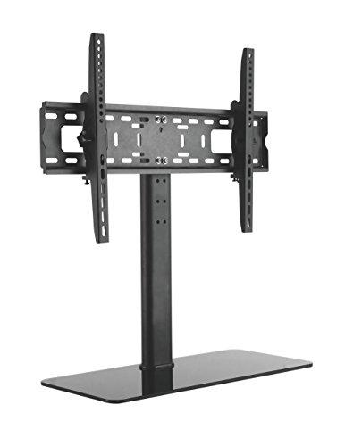 LCD LED TV STÄNDER GLAS STANDFUSS Neigbar Höhenverstellbar Fernsehstand Stand Flachbildschirm Möbel Rack VESA 400x400 600x400 Universal HALTERUNGSPROFI TVS052