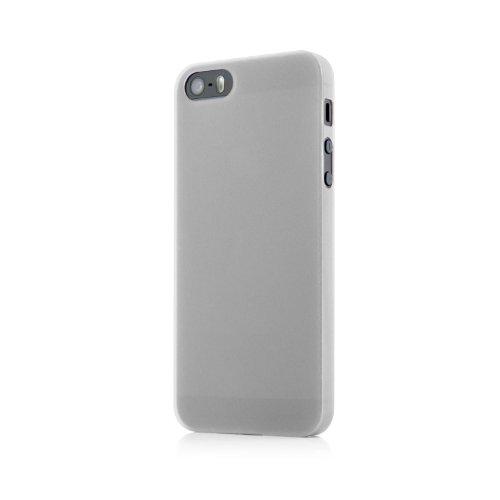 Original QUADOCTA® Tenuis Case für das iPhone SE / 5s / 5 in schwarz aus Polypropylen ULTRA SLIM 0,35mm weiß