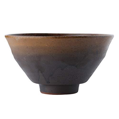 Lhl Jiale Ceramic Bowl-HJCA Hogar Retro Tazón Cara Personalidad Vajilla Gres Ensalada Bowl (5.5 × 2.95 Pulgadas)