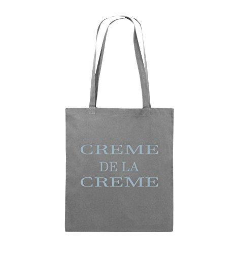 Comedy Bags - CREME DE LA CREME - Jutebeutel - lange Henkel - 38x42cm - Farbe: Schwarz / Pink Dunkelgrau / Eisblau