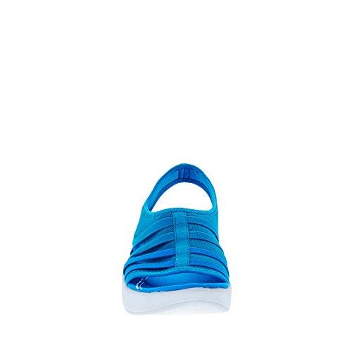 Easy Spirit e360 Boatyard Femmes Toile Sandales Compensés Med Blue