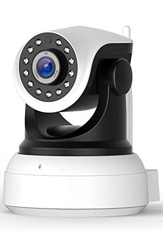 YANGSANJIN IP Kamera,WLAN Überwachungskamera WiFi 720P, Haustier Kamera, Home und Baby Monitor mit Bewegungserkennung, Zwei-Wege-Audio, unterstützt Fernalarm, White (Optik-video-baby-monitor)