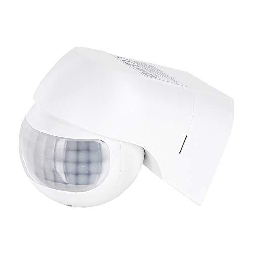 Aufputz Slim Infrarot Bewegungsmelder IP44 180° 230V - mit Dämmerungssensor - für Feuchtraum Aussen - LED geeignet ab 1W