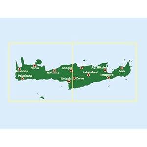 Creta, mapa e cerreteras. Escala 1:150.000. Freytag & Berndt. (Auto karte)