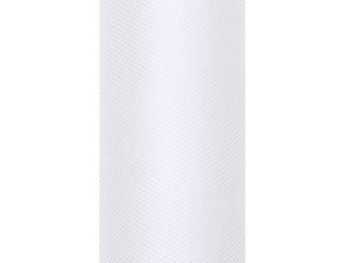 Tüll Dekostoff Hochzeit Tisch Geschenk Verpackung 9 m auf einer Rolle 30 cm breit (weiß)