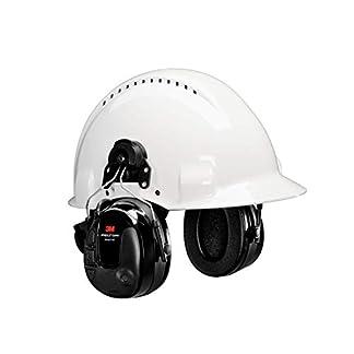 3M Peltor MT13H221P3E ProTac III Protección auditiva de auricular, versión de casco, color negro