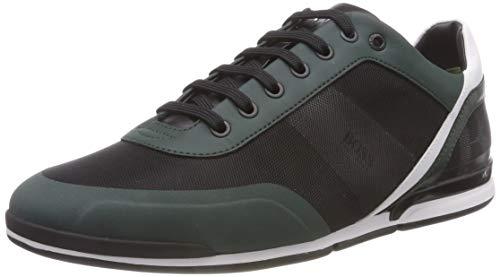 BOSS Herren Saturn_Lowp_act3 Sneaker, Grün (Bright Green 320), 43 EU