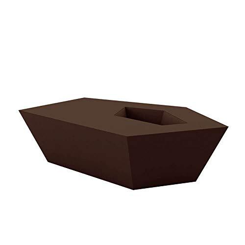 Vondom Faz Table Basse pour l'extérieur Basso Bronze