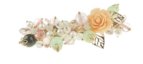 Damen Vintage Stil Blume Blumenstrauß Rose Blätter Haarspange