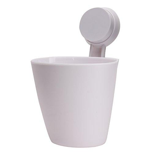 Multifunktionale Starke Saugnapf zum Aufhängen Küche Badezimmer Aufbewahrungsbox Zahnbürste Kosmetik Organizer, Weiß