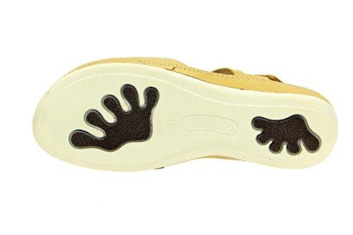 Komfort Damenlederschuh Piesanto 8905 sandale klettverschluss herausnehmbaren einlegesohlen bequem breit Beige