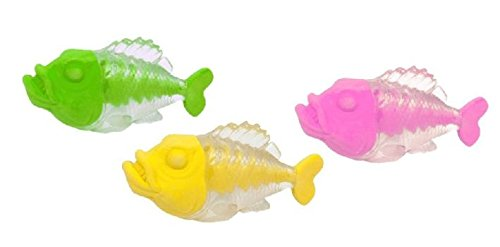 Radiergummi Collection Piranha 3 Farben soriert einzeln verpackt 3x6,2x3,3cm - Liefermenge 24 Stück