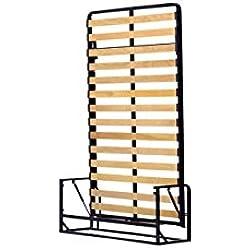 Wallbedking Classic Mécanismes de Lit Mural/Lit Escamotable/Lit Rabattable Vertical 120cm x 190cm