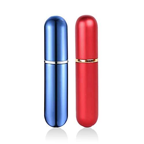 QJiang 5 ml Rojo Azul Aluminio vidrio Aceite esencial