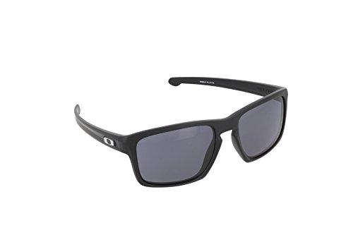 Oakley Herren Sonnenbrille Sliver Schwarz, 57