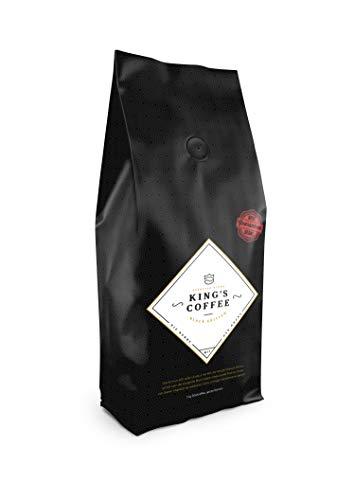 King's Coffee Black Edition - Dunkle Espresso Röstung - Arabica Robusta Blend - Kaffee-Bohnen für Vollautomaten - 1KG Espresso-Bohnen - Röstung Kaffee-bohnen Dunkle Bio