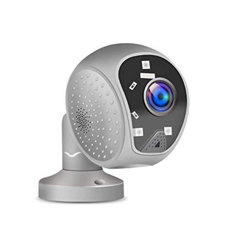 Hihey Cámara panorámica de 180 grados HD 1080P HD PTZ IP para exteriores Cámara de vigilancia de red WiFi a prueba de agua Monitor de hogar y bebé Con detección de movimiento