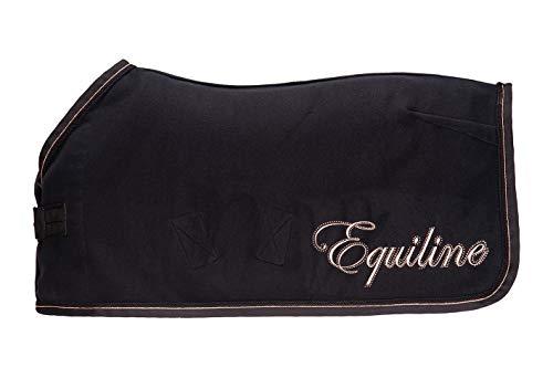 Equiline Abschwitzdecke E_BANKSIA Größe 155cm, Farbe schwarz