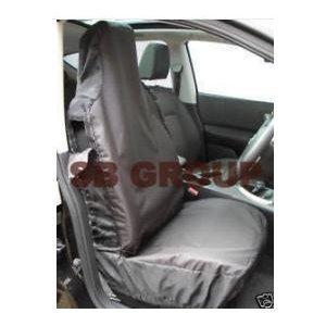 02-08 SINGLE HD BLACK SEAT COVERS PROTECTORS CAR SEATS CITROEN BERLINGO VAN