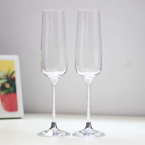 �ser Set Kristall Weinkelch Hochzeit Champagner Weingläser persönlicheChampagner Flöten ()