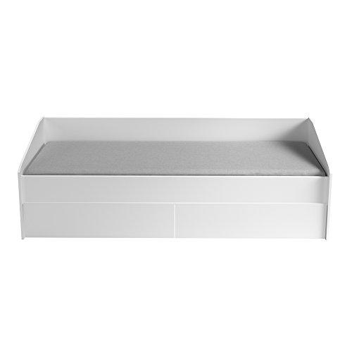 INFINIKIT Janis Ausziehbett, 90 x 200 cm, mit Schubladen, Weiß