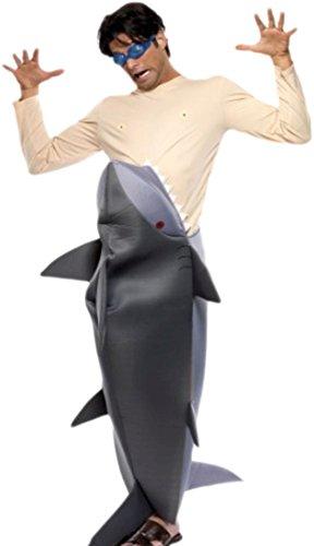 Hai Pet Overall Kostüme (Zauberclown - Herren Fressender Hai Karneval Fachingskostüm, M,)
