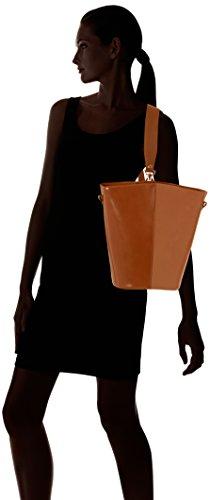 Chicca Borse 8890, Borsa a Spalla Donna, 31x33x16 cm (W x H x L) Marrone (Cuoio)