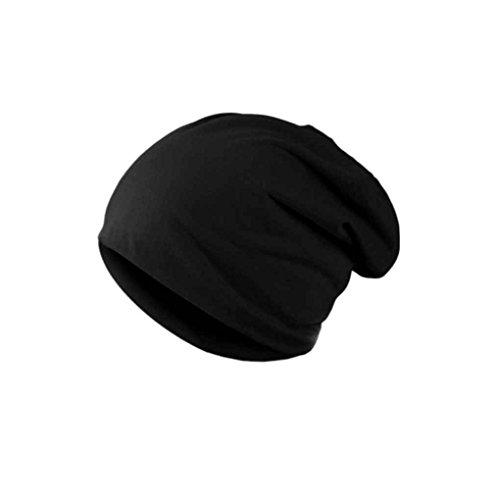 Bobury Hombres cálido Sombrero de Invierno de algodón Mezclado Gorro de esquí Gorro Liso