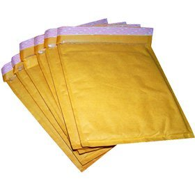 50 Gold Padded Bubble Envelopes 240x320mm A4 STG 7 Test