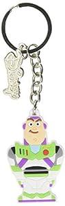Disney Bio-ke503201toy Toy Story Buzz Lightyear - Llavero de Goma, Color Blanco, 5,5 cm