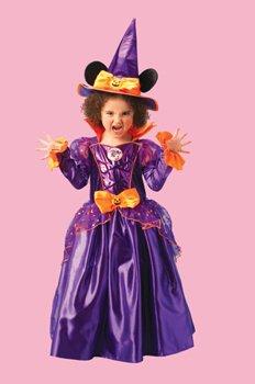 Rubie's Disney Kinder Kostüm Minni Maus Halloween Hexe Größe L 7 bis 8 Jahre (Disney Hexen Kostüm)