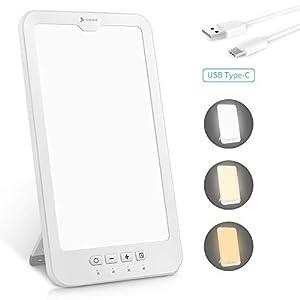 Tageslichtlampe 10000 lux, Hosome USB Typ-C 4 Timer mit Memoryfunktion Lichttherapielampe gegen Depressionen, 3…