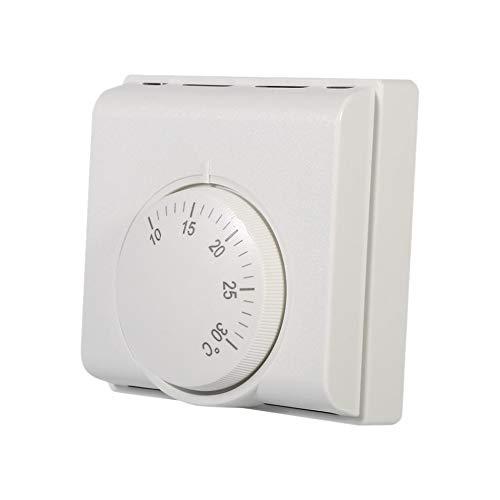 SODIAL Mechanischer Raum Thermostat Temperatur Regler 6A 220V für Klimaanlagen- und Boden Gas Kessel Heizung -