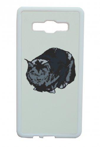 Smartphone Case Gatto Seduto Carter Gattino Animale domestico per Apple Iphone 4/4S, 5/5S, 5C, 6/6S, 7& Samsung Galaxy S4, S5, S6, S6Edge, S7, S7Edge Huawei HTC-Divertimento Moti