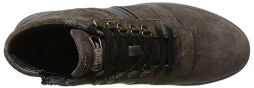 Stonefly Dover 10 Velour Oil, Sneaker Uomo Grigio (charbon De Bois 1a12)