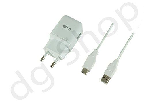 Original LG G5 H850 USB Typ-C Typ C MCS-H05 1.8A 1800 mA Kabel Schnell Ladegerät Netzteil Ladekabel Adapter Datenkabel 2 teilig Weiß (12-volt-netzteil Mit 30 Ampere)