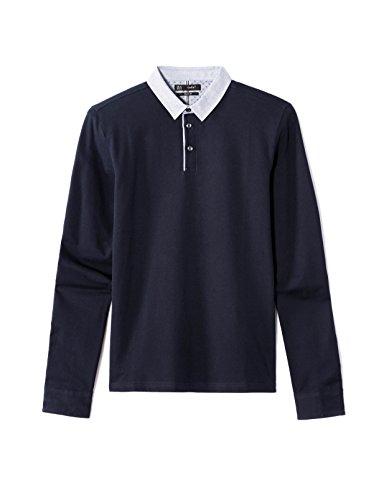 Celio Herren Poloshirt Deted Blau - Bleu (Navy Blue 02)