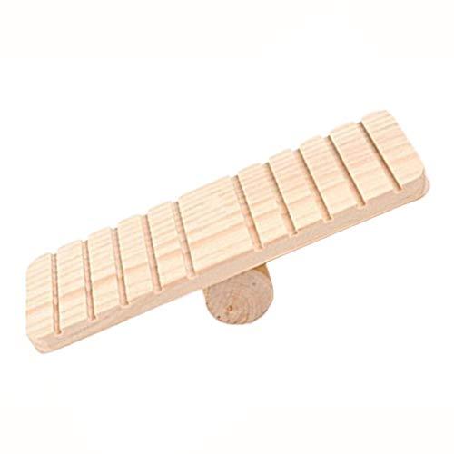 Vektenxi Holz Sesaw Toy für Syrische Hamster Gerbil Rat Maus Chinchillas Meerschweinchen Eichhörnchen Kleintier Langlebig und Nützlich -