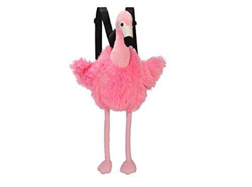 Bavaria Home Style Collection Rucksack Plüsch - Kinderrucksack - Flamingo - ca. 50 cm - Plüschtier Kuscheltier rosa