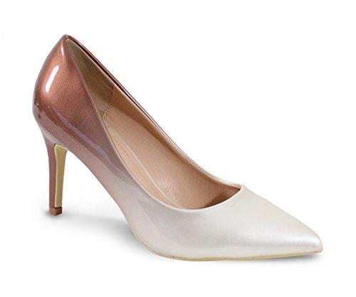 By Shoes Escarpin Talon Haut Style Vernis - Femme