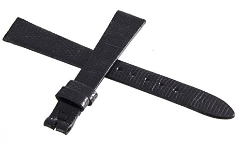 Movado Uhrenarmband Leder schwarz 13mm x 10mm