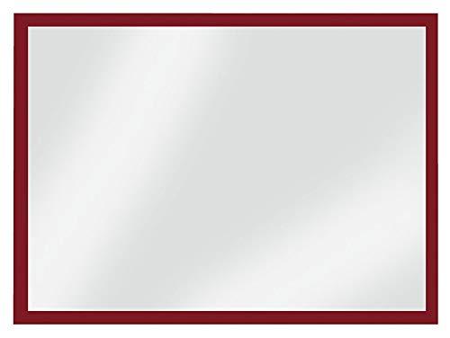 VELOFLEX 3604020 Magnetrahmen DIN A4, 3 Seitig mit Magnetstreifen, Rot, Inforahmen, Dokumentenhalter, 5 Stück (Wand-tasche Streifen Magnetische)