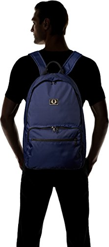 Fred Perry Men's Men's Navy Mini Check Backpack 100% Polyester Blue