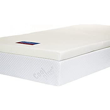 Memory Foam Mattress Topper With Cover 3 Inch Uk King Size