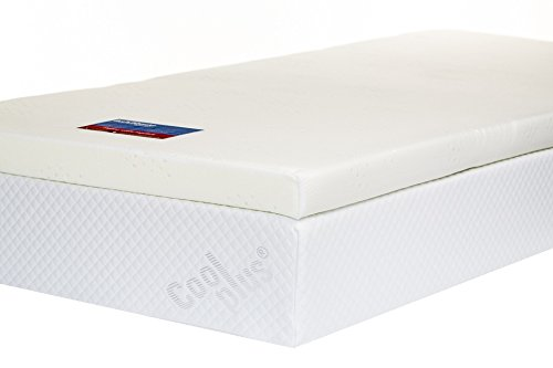 Memory Foam Mattress Topper with Cover, 3 inch - UK Super King 2
