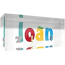 Little Helper Souvenir Decorative Polished Clear Acrylic Diamond Style Example with the name LOAN Boy 5x 15x 2cm Small Multi-Coloured