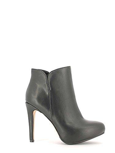 CAF NOIR MF902 chaussures noires femme bottines glissière latérale talon