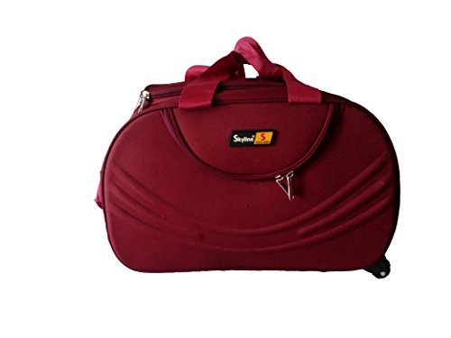 Skyline Traveling Polyester 1299 Cms Red Hybrid Duffle Bag